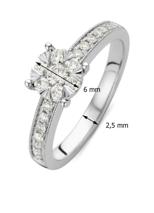 Diamond Point Enchanted ring in 14 karat white gold