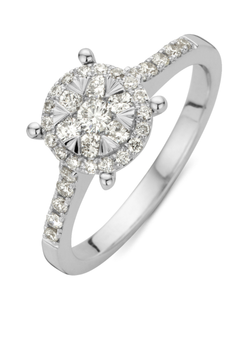 Diamond Point Witgouden ring, 0.47 ct diamant, Enchanted