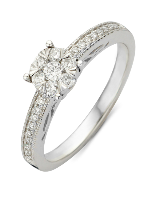 Diamond Point Witgouden ring 0.32 ct diamant Enchanted