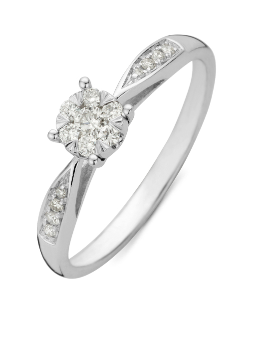Diamond Point Witgouden ring, 0.20 ct diamant, Enchanted