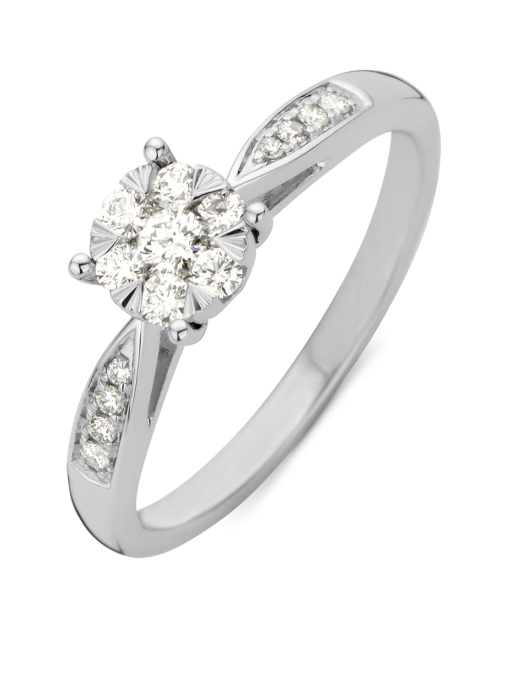 Diamond Point Witgouden ring, 0.29 ct diamant, Enchanted