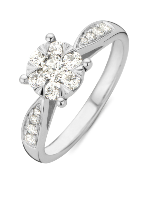 Diamond Point Witgouden ring, 0.57 ct diamant, Enchanted