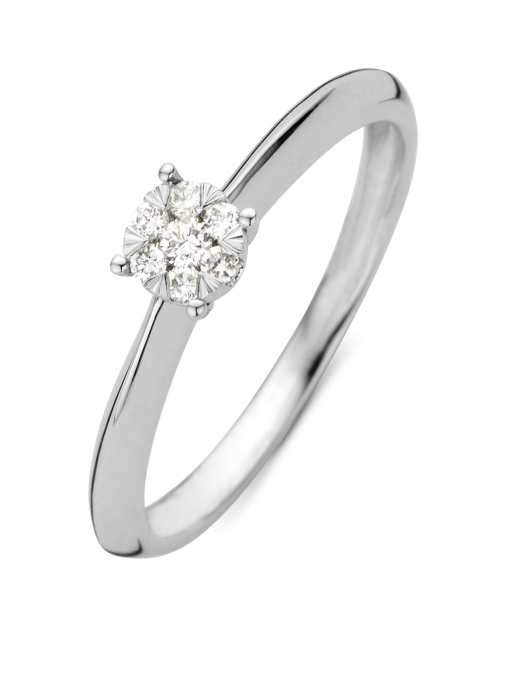 Diamond Point Witgouden ring 0.10 ct diamant Enchanted