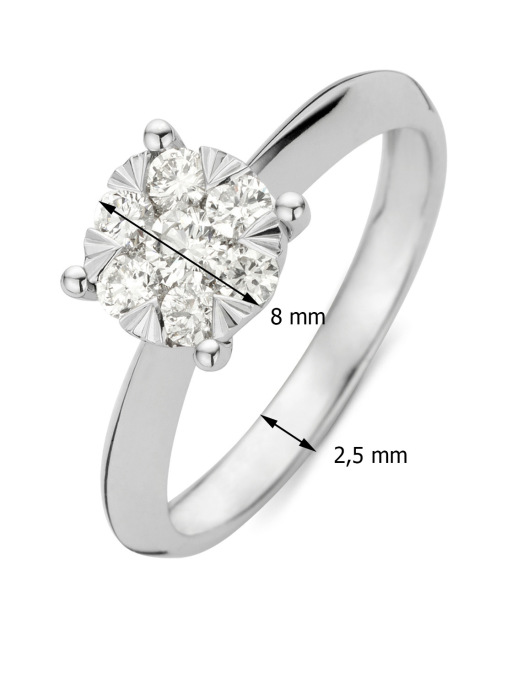 Diamond Point Witgouden ring 0.46 ct diamant Enchanted