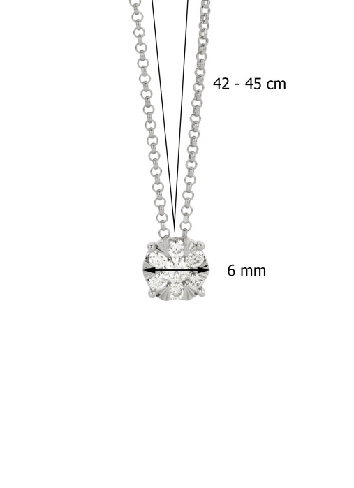 Diamond Point Enchanted pendant in 14 karat white gold