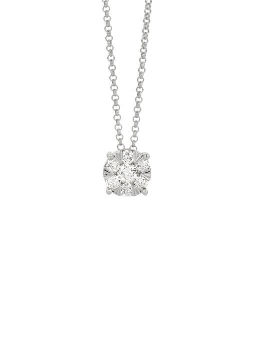 Diamond Point Enchanted pendant in 14 karat white gold
