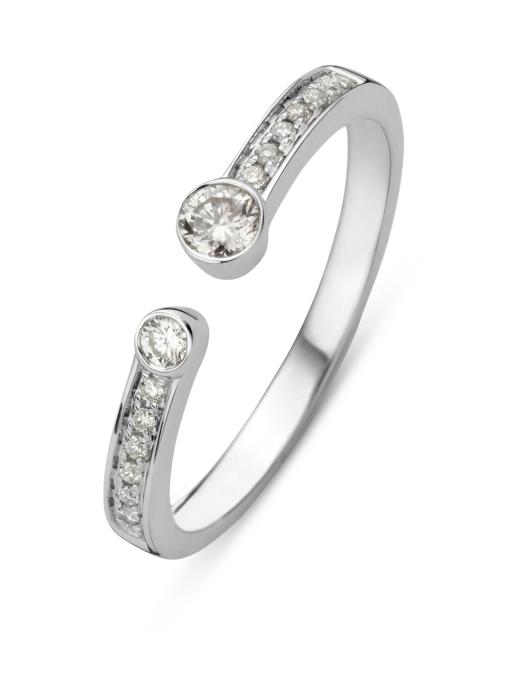 Diamond Point Ensemble ring in 14 karat white gold