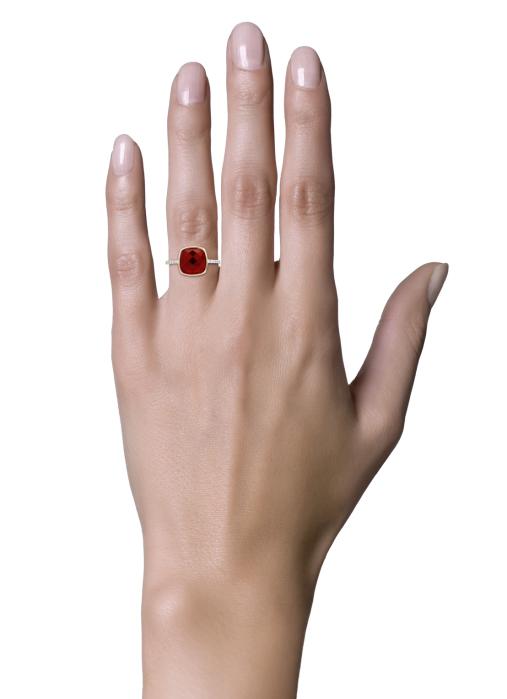 Diamond Point Colors ring in 14 karat rose gold