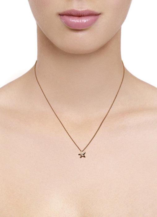 Diamond Point Beauties of the sea pendant in 14 karat rose gold