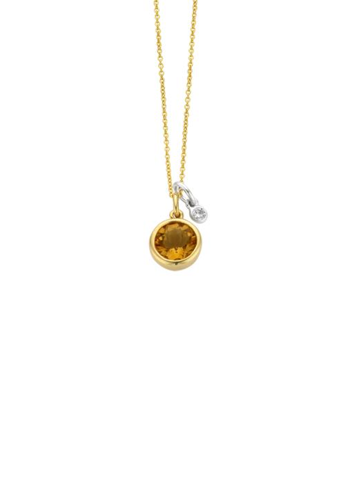 Diamond Point Birthstones Anhänger in 14 karaat geel- en witgoud