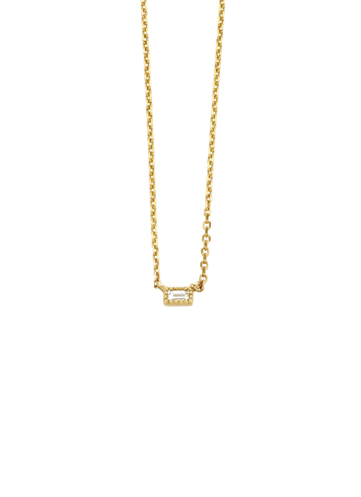 Diamond Point Geelgouden collier, 0.05 ct diamant, Joy