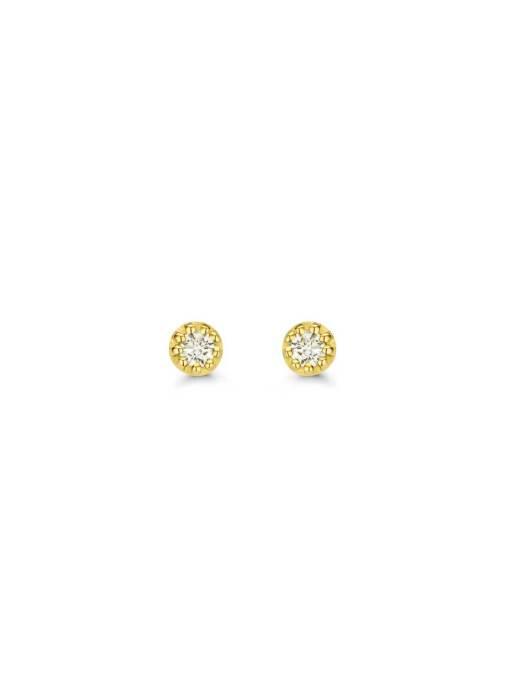 Diamond Point Joy Ohrringe in 14K Gelbgold
