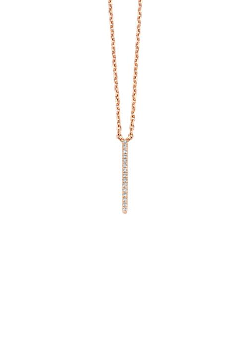Diamond Point Joy necklace in 14 karat rose gold