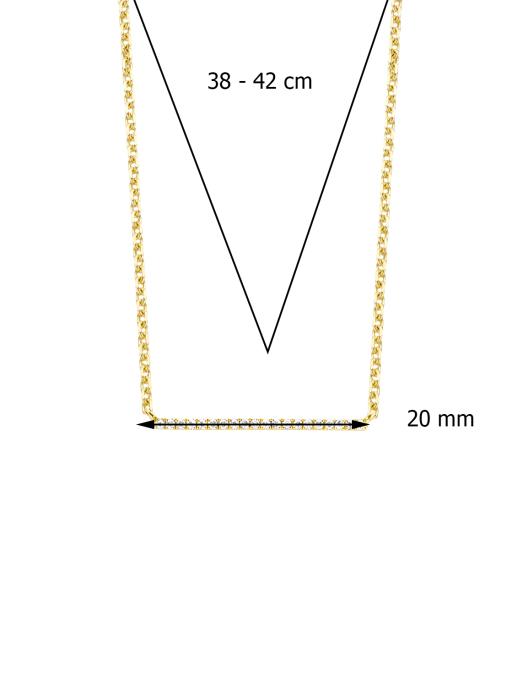 Diamond Point Joy Halskette in 14K Gelbgold