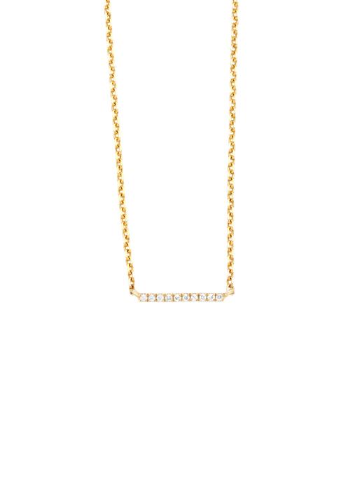 Diamond Point Geelgouden collier, 0.03 ct diamant, Joy
