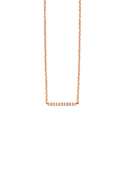 Diamond Point Joy necklace in 14 karat rose gold