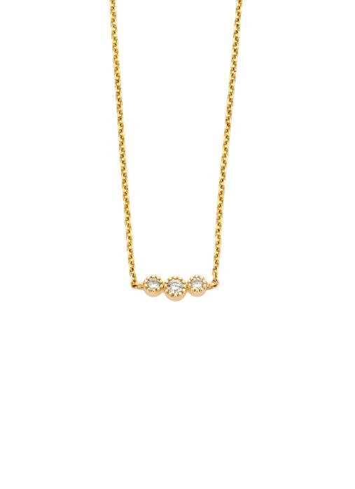 Diamond Point Joy necklace in 14 karat yellow gold
