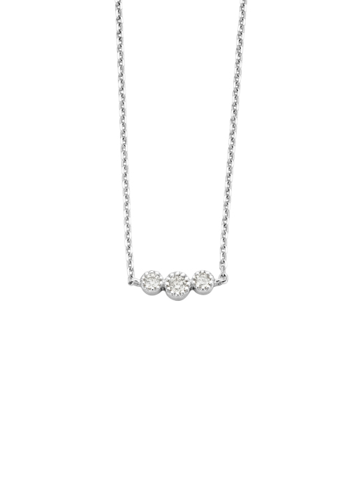 Diamond Point Witgouden collier, 0.11 ct diamant, Joy