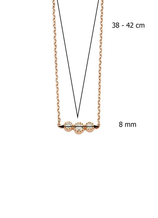 Diamond Point Joy Halskette in 14K Roségold