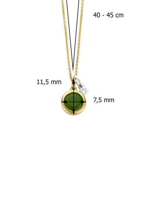 Diamond Point Birthstones gouden hanger Mei
