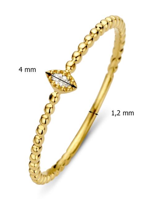 Diamond Point Geelgouden ring 0.04 ct diamant Joy
