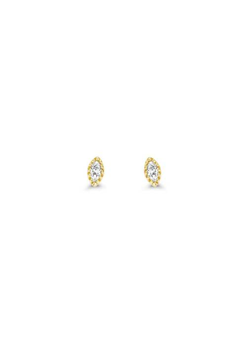 Diamond Point Joy Ohrringe in 14K Gelbgold