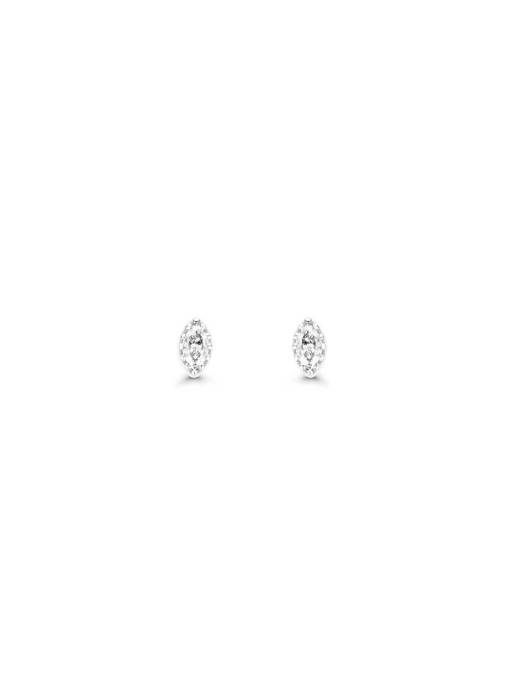 Diamond Point Joy earrings in 14 karat white gold