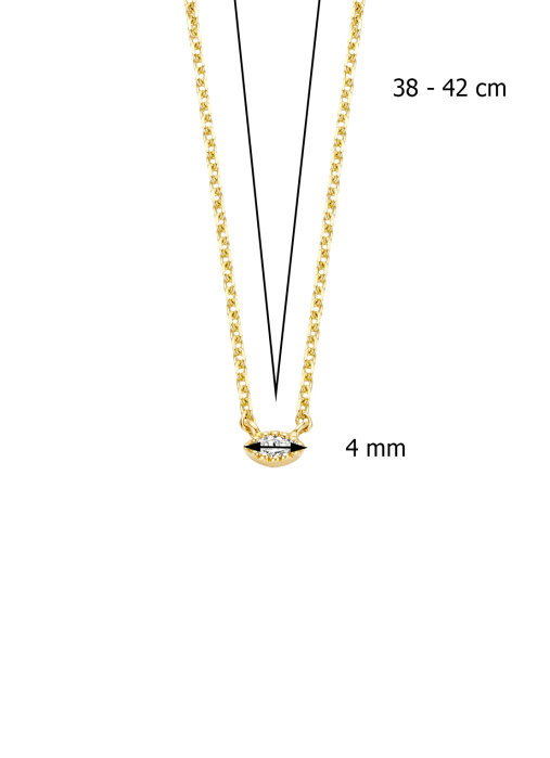 Diamond Point Joy necklace in 14 karat yellow gold