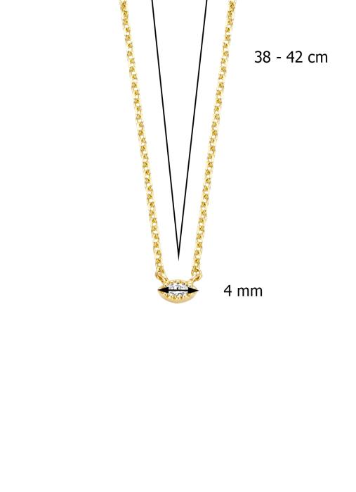 Diamond Point Geelgouden collier 0.04 ct diamant Joy