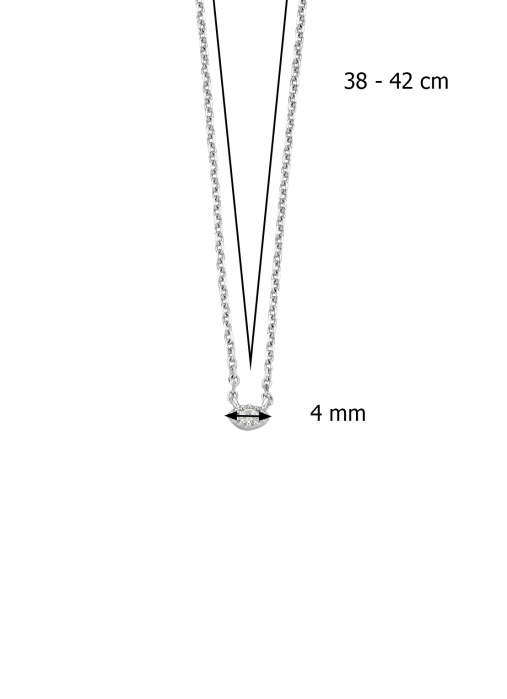 Diamond Point Joy necklace in 14 karat white gold