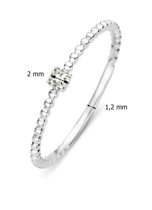 Diamond Point Joy Ring in 14K Weißgold