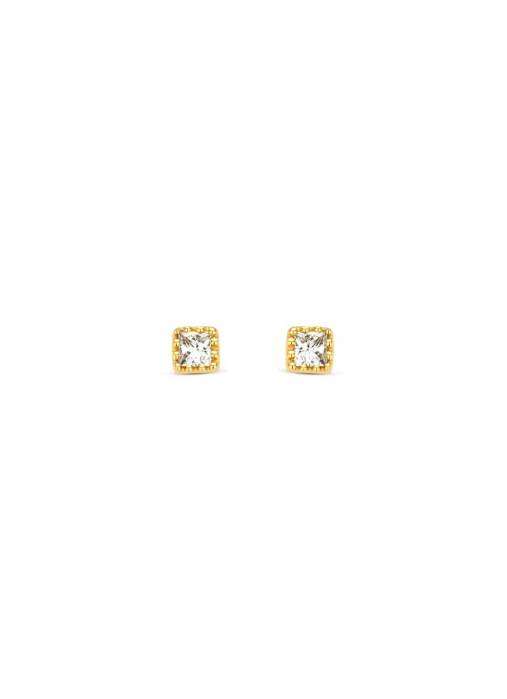 Diamond Point Geelgouden oorsieraden, 0.08 ct diamant, Joy