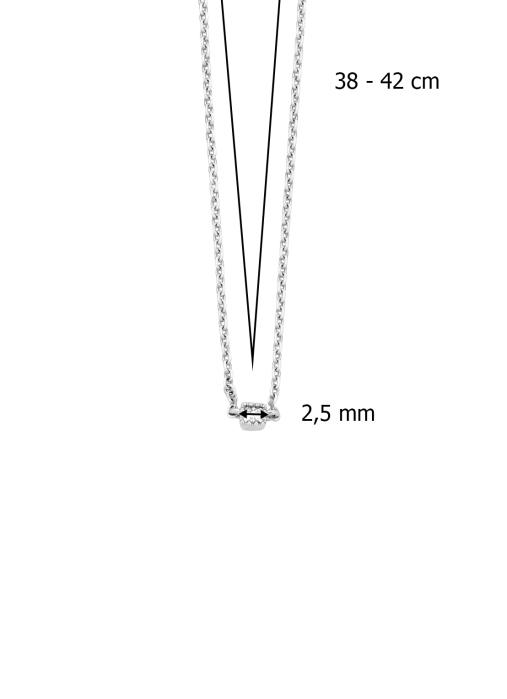 Diamond Point Joy Halskette in 14K Weißgold