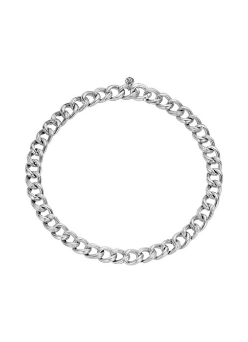 Diamond Point Zilveren gourmette collier (S)
