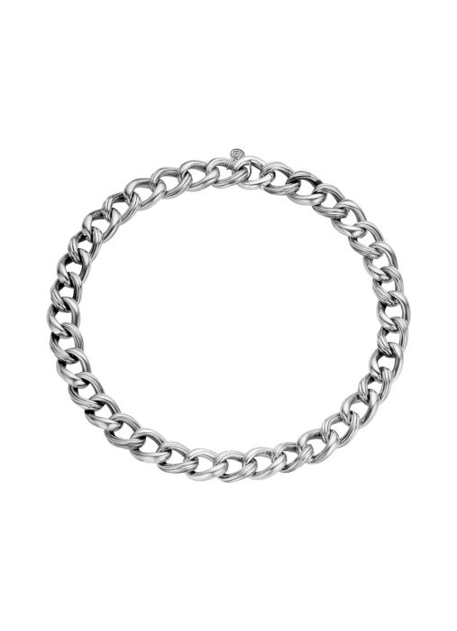 Diamond Point Sterling zilver gourmette collier (M)