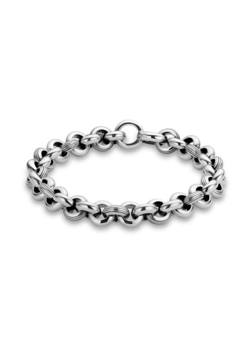 Diamond Point Sterling zilver jasseron armband (XS)