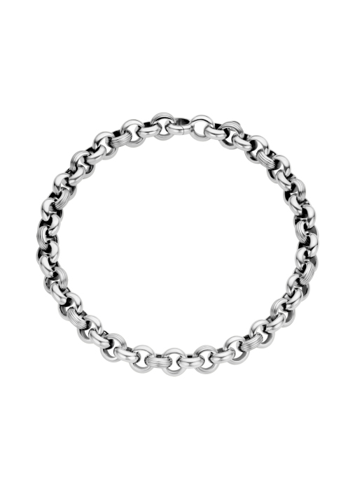 Diamond Point Sterling zilver jasseron collier (M)