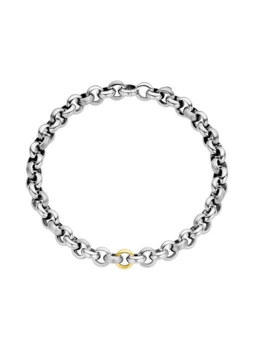 Diamond Point Sterling zilver jasseron collier (M)