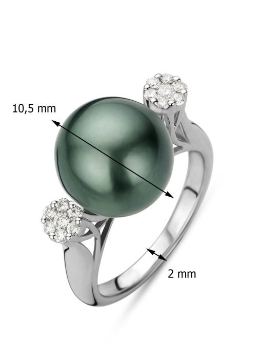 Diamond Point Perlen Ring