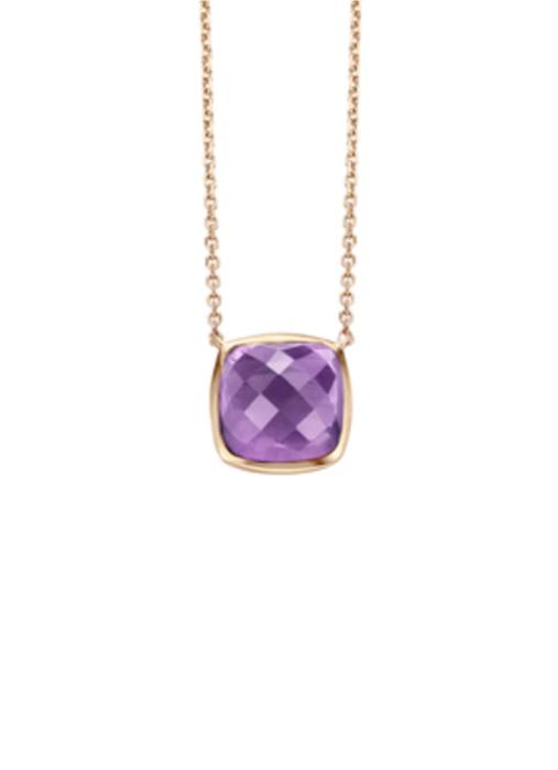 Diamond Point Colors Halskette in 14K Roségold