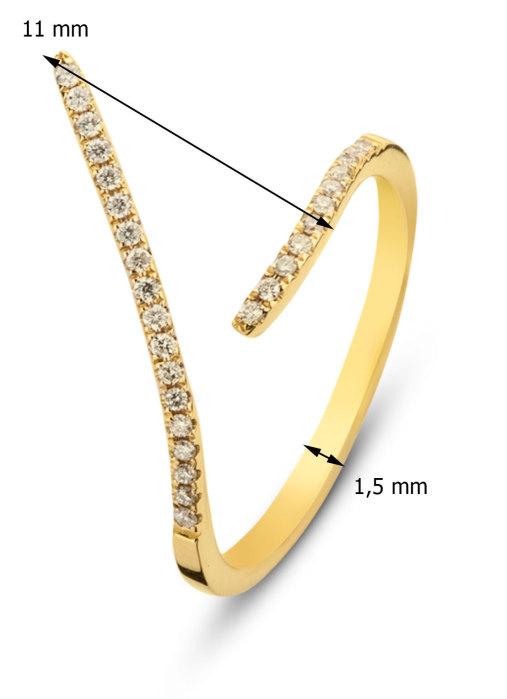 Diamond Point Alliance ring in 14 karat yellow gold