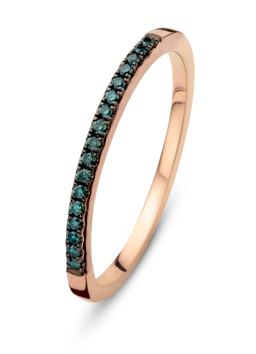 Diamond Point Alliance ring in 14 karat rose gold