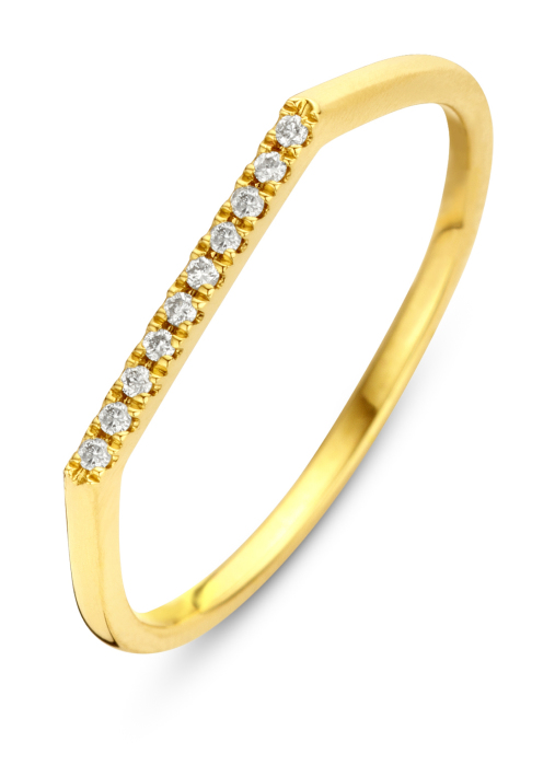 Diamond Point Geelgouden ring, 0.04 ct diamant, Joy