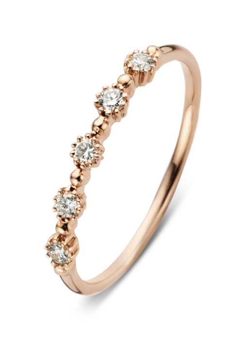 Diamond Point Roségouden ring, 0.17 ct diamant, Joy