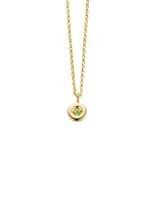 Diamond Point Birthstones pendant in 14 karat yellow gold
