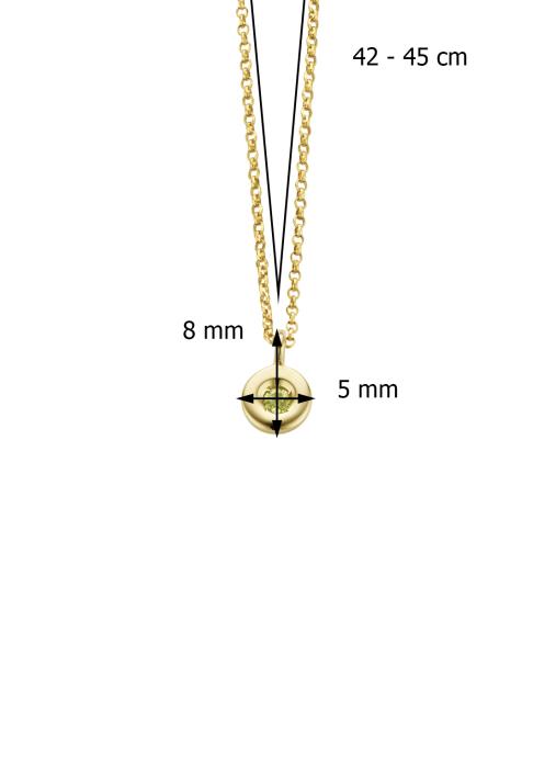 Diamond Point Birthstones gouden hanger Augustus