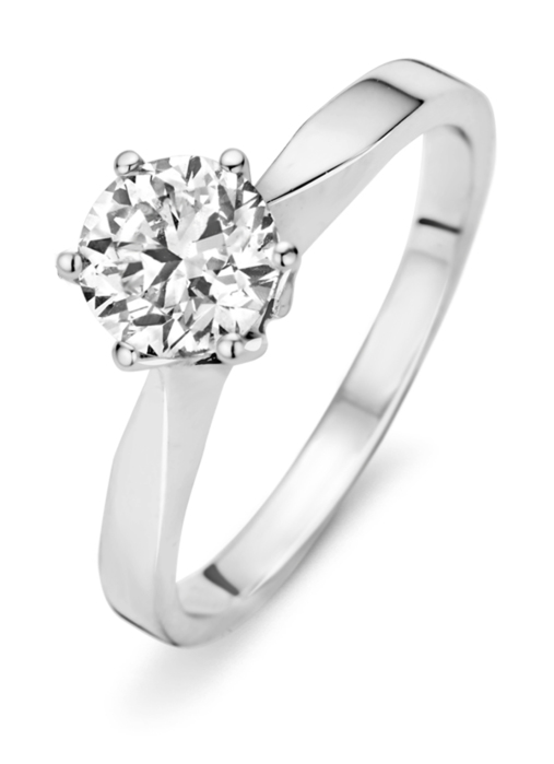 Diamond Point Witgouden ring 1.07 ct diamant Solitair