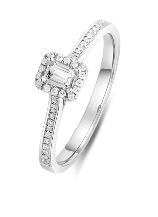 Diamond Point Witgouden ring 0.20 ct diamant Solitair