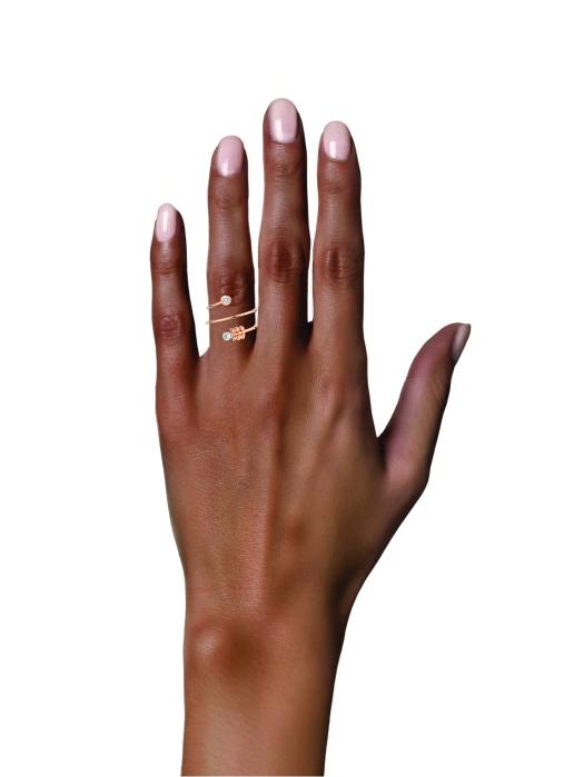 Diamond Point Roségouden ring, 0.19 ct diamant, Solitair