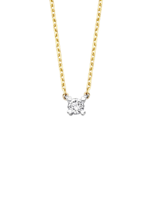 Diamond Point Gouden collier, 0.15 ct diamant, Starlight